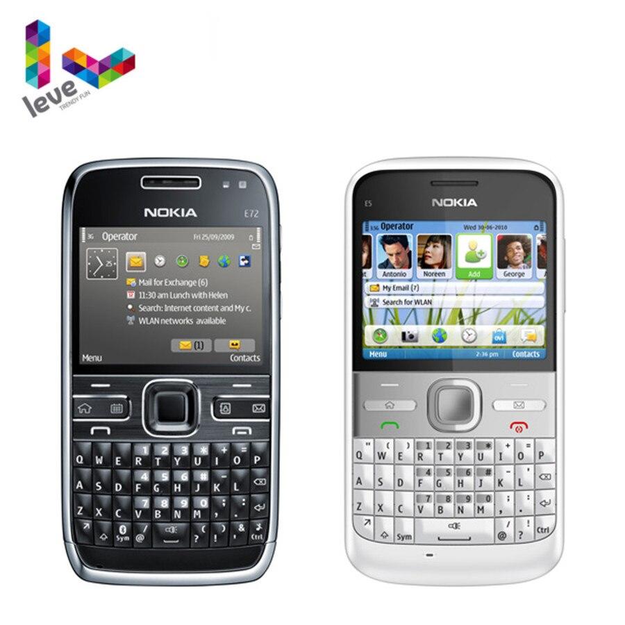 Unlocked Nokia E72 Mobile Phone 3G Wifi 5MP Multi-Language Original Refurbished Cellphone NO Hebrew keyboard