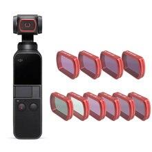 Para dji bolso 2 filtro mc uv/cpl/nd 8 16 32 64-pl/cor filtros proteção caso para dji osmo bolso handheld câmera accessries