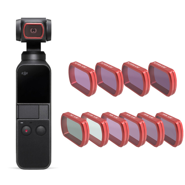 For DJI Pocket 2 Filter MC UV/CPL/ND 8 16 32 64 PL/Colour Filters Protection Case For DJI Osmo Pocket Handheld Camera Accessries
