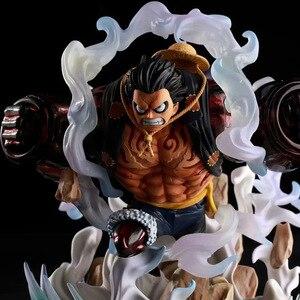 Image 2 - Japon animesi tek parça şekil tek parça Luffy heykeli PVC aksiyon figürü oyuncakları GK Luffy şekil dekorasyon modeli oyuncaklar çocuk hediye
