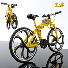 1: 8 Mini Finger Bmx Toys Mountain Bike BMX Fixie Bicycle Scooter Toy Simulation Alloy Folding Model