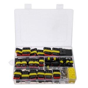 Image 2 - Kit de connecteurs de fils électriques pour voiture, 26 ensembles de connecteurs 1 4 broches, 300V 16a étanche, voiture, pièces de rechange pour la Marine