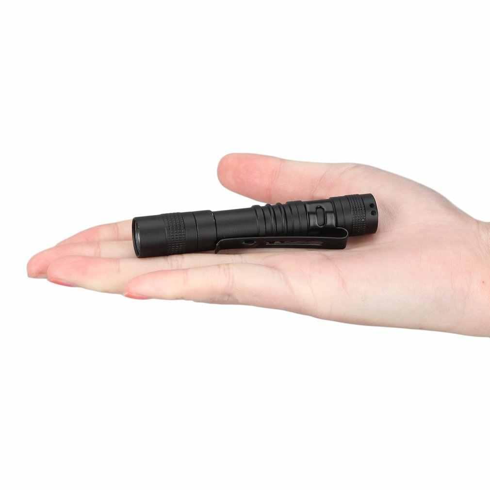 محمول صغير مقاوم للماء Penlight 2000LM LED الشعلة قوية AAA بطارية قوية LED الأنشطة في الهواء الطلق الدفاع عن النفس مصباح يدوي