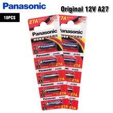 Panasonic bateria alcalina de 12v 27a, 10 peças de pilha alcalina g27a mn27 ms27 �� a27 l828 a27bp k27a vr27 r27a para campainha controle remoto de alarme