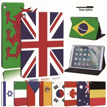 For iPad 2 3 4 5 6 7/Air 1 2 3/Pro 11 2018 2020 PU Leather Tablet Stand Folio Cover -Ultra-thin Flag colors Slim Case for ipad 2 3 4 5 6 7 air 1 2 3 pro 11 2018 2020 pu leather tablet stand folio cover ultra thin star colors slim case