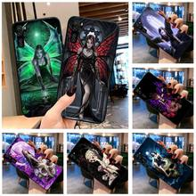 Gothic Skull Fairy Phone Cases for Huawei P20 P30 P40 lite E Pro Mate 40 30 20 Pro P Smart 2020 P10
