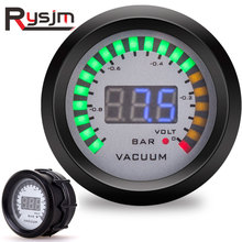 2 Inch 52mm Vacuum Gauge + Voltmeter Leds Digital Car Bar Voltage Meter Racing meter Accessories Auto Parts