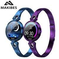 Makibes AK15 Smart Watch Luxury Women 2019 New ladies fashion Waterproof blood pressure blood Bluetooth Fitness Tracker Bracelet