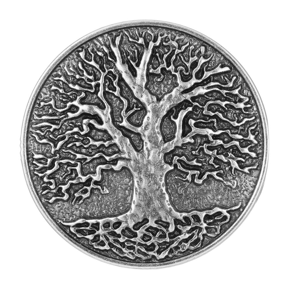 Silver Retro Western Denim Tree Belt Buckle, Suitable For 4CM Wide Belt Men's Jeans Accessories
