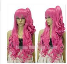 01320@Q8@lolita big curly rose red ponytail Hatsune Miku cosplay party lady wig(China)