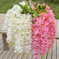 С цветком ротанга настенный искусственная Цветочная лоза листья цветок украшение дома праздник и свадебное украшение