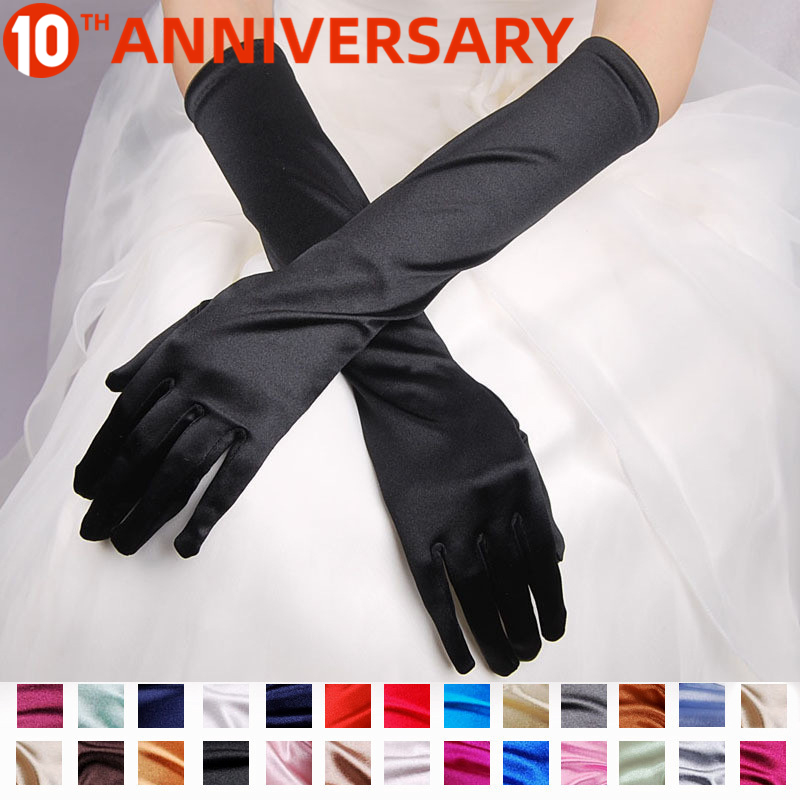 OLLYMURSBridal Gloves With Satin Show Evening Dresses Wedding Dresses Sunscreen Sleeve Wedding Accessories
