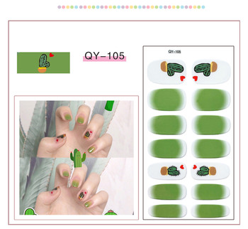 Sliders For Nails Rainbow Nail Art Sticker Pegatinas Multicolor Waterproof Nail Polish Film Наклейки Стикеры Manicure Decals image