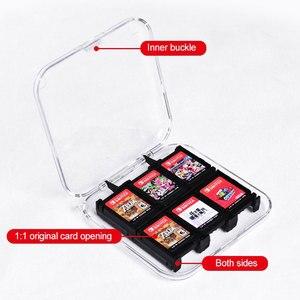 Image 5 - Oyun kartları taşınabilir koruyucu ABS sert kabuk oyun kartları saklama kutusu ile 12 oyun kartuşları tutucu Nintendo anahtarı için