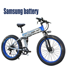 Mountain-Bike Folding Electric Lankeleisi Battery 27-Speed The 400W with 10A LG Top-Seller