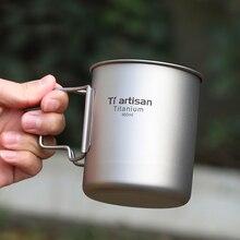 Mug Titanium Ultralight Coffee Outdoor Travel-Mug Water-Drinking-Cup 450ml with Mesh-Bag