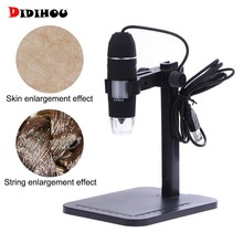 Microscope numérique USB professionnel 1000X800X8 LED 2MP Microscope électronique Endoscope Zoom caméra loupe + support de levage(China)