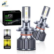 DAWNKNIGHT F31 H7 H4 H1 H11 HB3 9005 lampadina per faro a Led 6000K kit Mini fari per auto H3 H8 9006 HB4 3000K fendinebbia a Led 2 pezzi