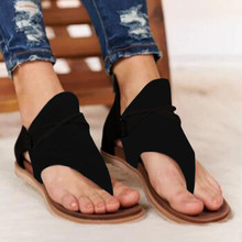 Sandalias Vintage para Mujer, Sandalias lisas de gladiador para verano, Sandalias planas para Mujer, zapatos bohemios Hobo, Sandalias para Mujer, novedad de 2020