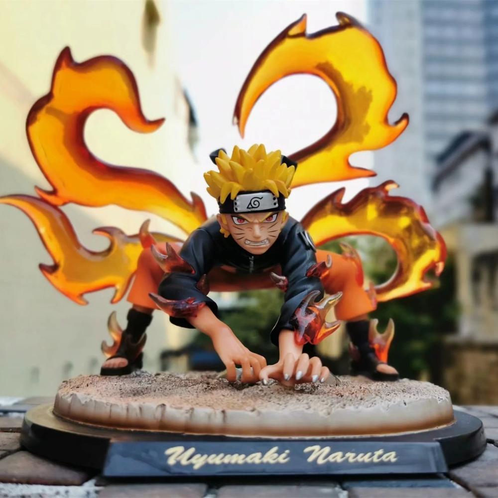Naruto Kyuubi Kurama Statue Diorama PVC Action Figure Anime Naruto Shippuden Uzumaki Naruto Figurine Collectible Toys Doll Gift