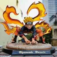Naruto Kyuubi Kurama Statue Diorama PVC Action Figure Anime Naruto Shippuden Uzumaki Naruto Figur Sammler Spielzeug Puppe Geschenk