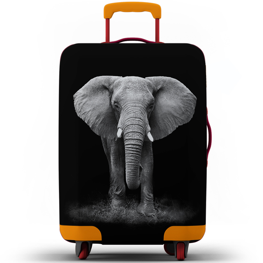 Elephant Lion Animal Suitcase Dust Cover Thickened Case Cover Air Layer Luggage Protection Cover