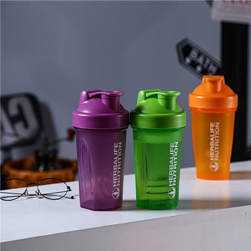 400ML yüksek kaliteli Shaker spor su şişesi karıştırma topu ile Shaker spor su şişesi çevre dostu Dropshipping