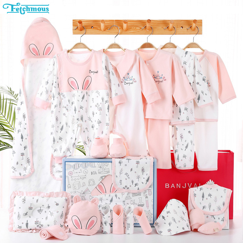 24PCS Unisex Baby Girl Clothes Newborn Gift Set Baby Boy Clothes Cotton Summer Baby Supplies Fall Winter Spring Clothing Sets 1