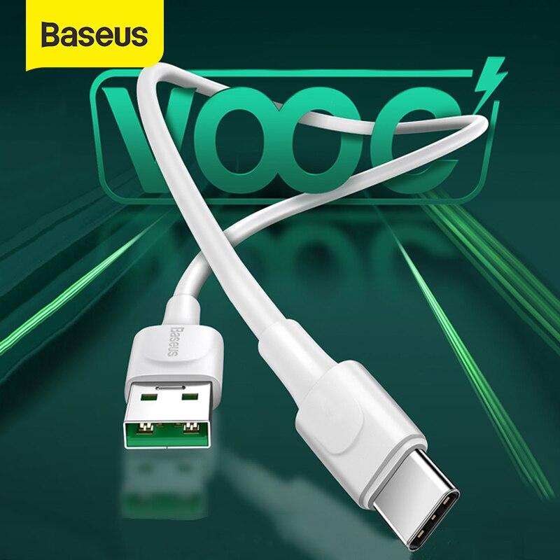 Baseus 5A VOOC opfo USB C tipi kablo OPPO Realme için 6 Pro/Realme için X2 Pro/X50 Pro 5G/Realme XT 730G cep telefonu hızlı şarj kablosu