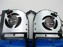 GPU CPU ventilador de refrigeração para ASUS FX705 FX705G FX705GM FX86 FX86SM FX505 FX505D FX505DU 17.3 FM1U DFS5K12304363H FM1V DFS5K12114262H