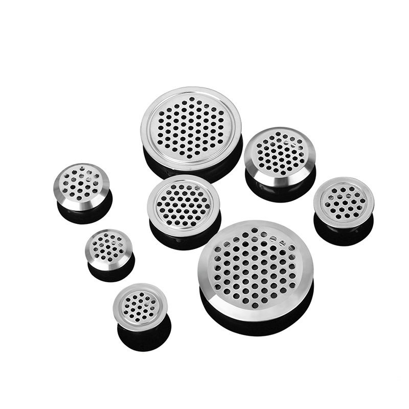 10pcs Round Cabinet Air Duct Vent Dia.19mm-53mm Steel Louver Mesh Hole Plug Decoration Cover Wardrobe Grille Ventilation Systems