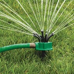 Verde 360 graus de rotação sprinkler macarronete cabeça água sprinkler jardim rega sprinkler para jardim irrigação telhado refrigeração|Irrigadores p/ jardim|Casa e Jardim -