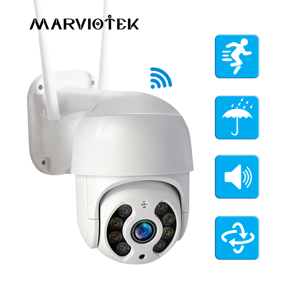 WiFi IP Camera Outdoor Night Vision Mini Speed Dome CCTV Camera 1080P Home Security Video Surveillance ipcam mini Camara ip 3MPSurveillance Cameras   -
