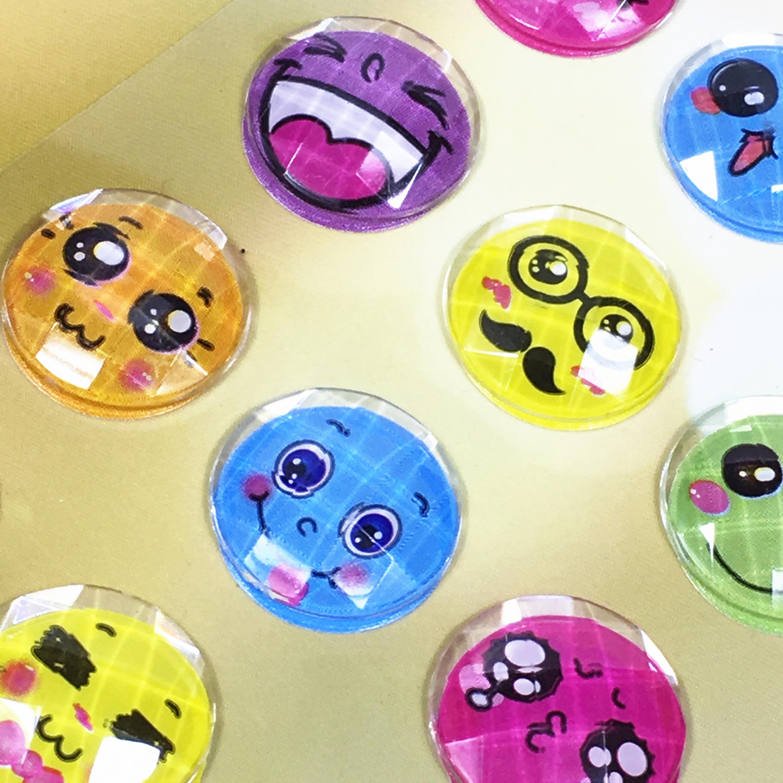 1pc Children's Cartoon Heart-shaped Round Diamond Sticker Decoration Diy Mobile Car Creative Parent-child Toys