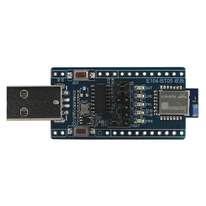 TLSR8266 Bluetooth Wireless Module Test Board E104-BT05-TB 2.4Ghz 8dBm Ebyte SMD IO Port Serial Data PCB Antenna