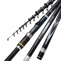 Telescopic Rock Fishing Rod 3.6M 4.5M 5.4M 6.3M High Carbon Fiber Spinning Fishing Rod Ultralight for Carp Fishing X430