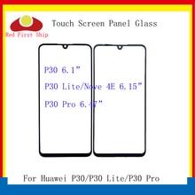 цена на 10Pcs/lot Touch Screen For Huawei P30/P30 Lite/P30 Pro Touch Panel Front Outer Glass Lens Touchscreen NO LCD Nova 4E LCD Glass