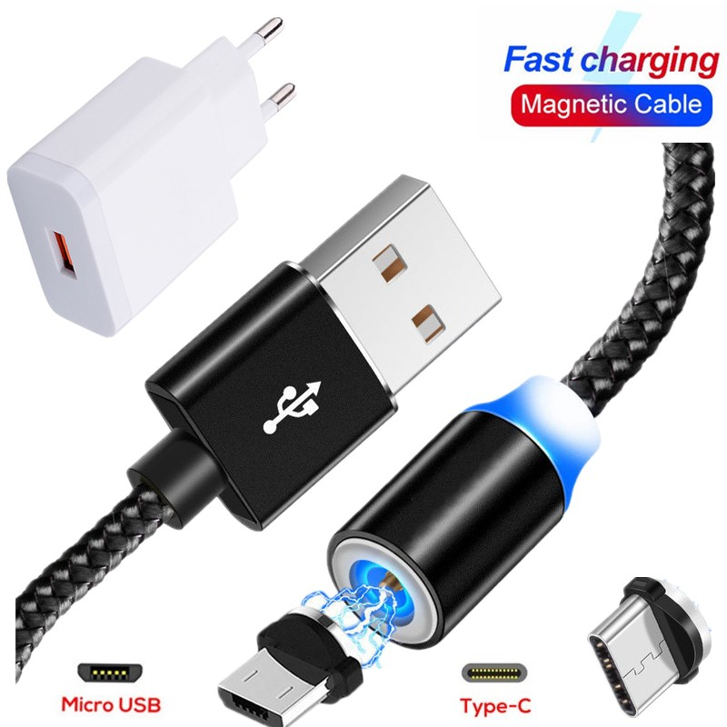 1M Magnetic USB Cable Fast <font><b>Charger</b></font> charging Cable For <font><b>nokia</b></font> x71 x7 x6 x5 7.1 <font><b>8.1</b></font> 5.1 6.1 2.1 3.1 A C plus 7 5 6 8 sirocco 9 4.2 image