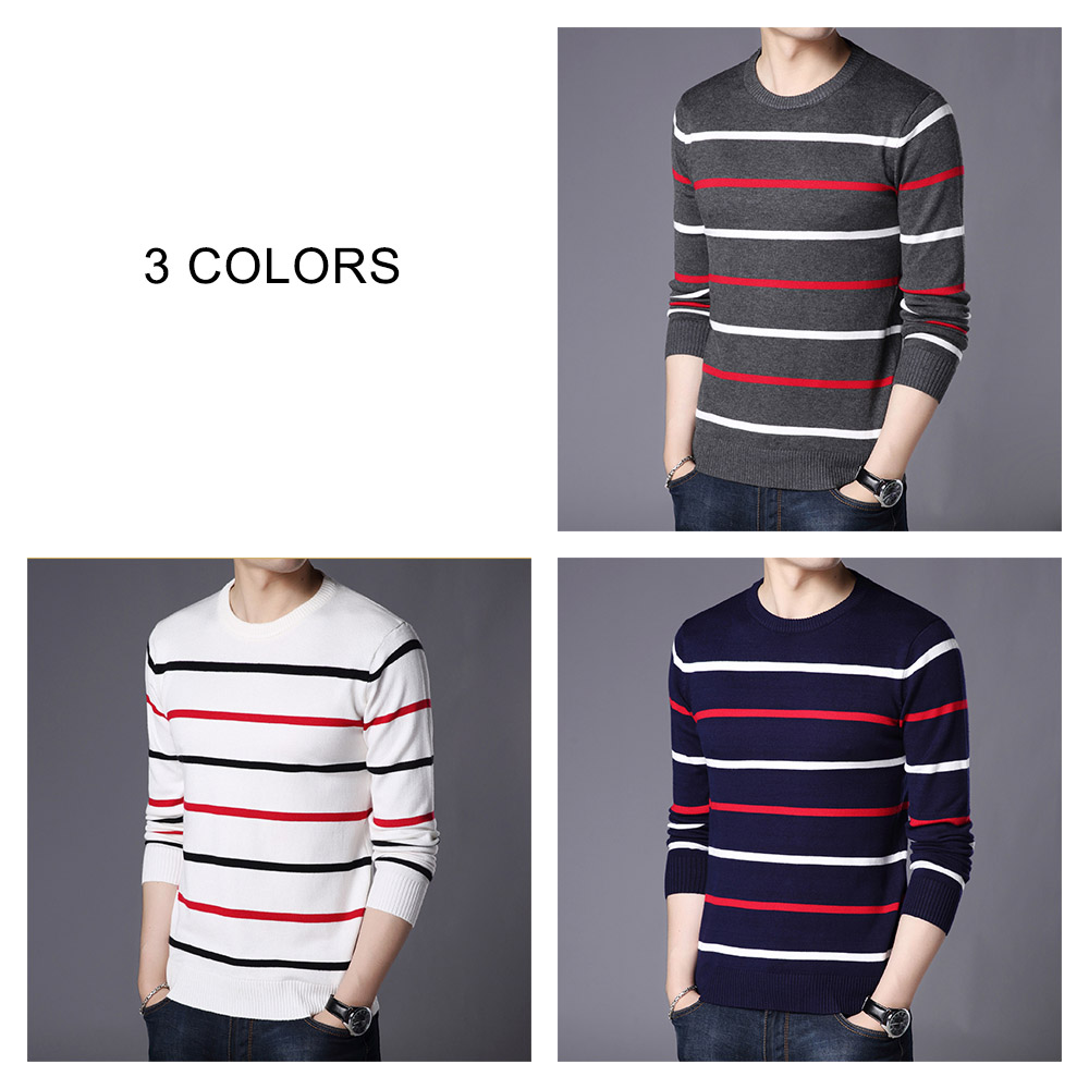 COODRONY Brand Sweater Men Fashion Casual Striped O-Neck Pull Homme Spring Autumn Cotton Knitwear Pullover Clothing Jersey C1003 4