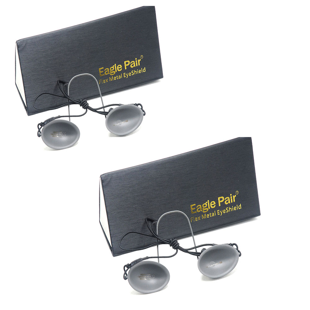 2pcs 190nm-14000nm IPL Laser Photon Protection Eyepatch Stainless Steel Goggles OD7+