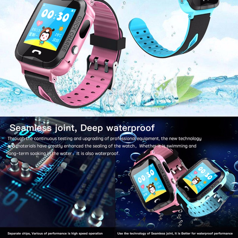 Hf8aa6181aeed45daab1c53ea35aa664eN - GPS kids Smart Watch Phone Position Children Watch 1.22 inch Color Touch Screen WIFI SOS Tracker Smart Baby Watch IOS & Android