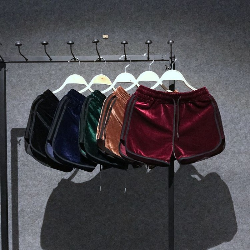 Booty Biker Velvet Shorts for Women High Waisted Summer Sexy Cute Mini Sweat Hot 2020 Fashion Casual Gym Clothing Panties Cotton 1
