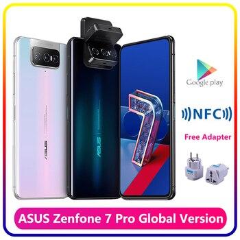 Перейти на Алиэкспресс и купить Смартфон ASUS Zenfone 7 Pro, 8 Гб RAM, 256 ГБ ROM, Snapdragon 865 Plus, 5000 мАч, NFC, Android Q, 90 Гц, глобальная версия 5G телефона