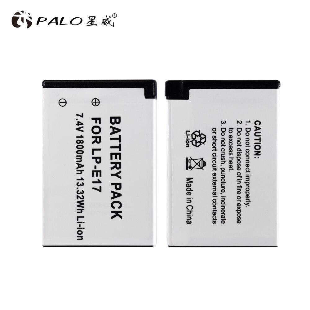 Батарейки 4 шт lpe17 lp e17 e1 + двойное зарядное устройство