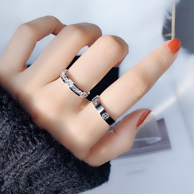 Classic Stainless Steel Screw Rose Gold Silver Color Rings Filled Love Wedding for Men Women Engagement Jewelry (GR228) 5