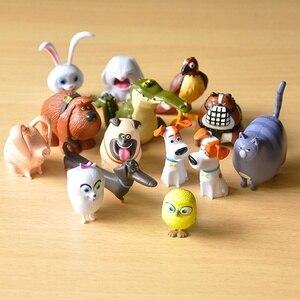 14 pcs Secret Pets PVC Rabbit Snowball Gidget Mel Dog Max Duke Cat Action Figure Toys Christmas Gift Toy