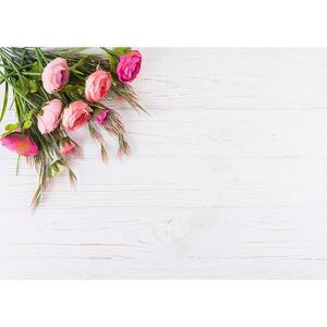 Image 2 - ピンクの花木製ボード写真撮影の背景ビニール布子供の愛好家のバレンタインデーの結婚式の写真撮影