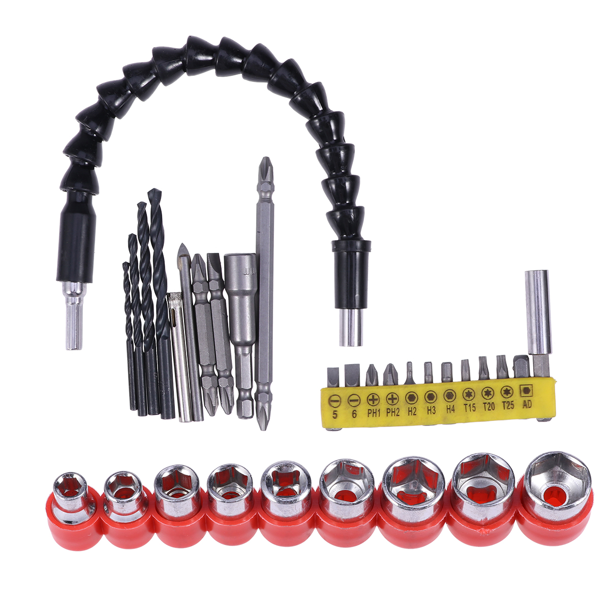 32 Pcs Hardware Accessories Flexible Shaft Screwdriver Bit Sets Metal Screwdriver Extension Kits For Car Maintenance
