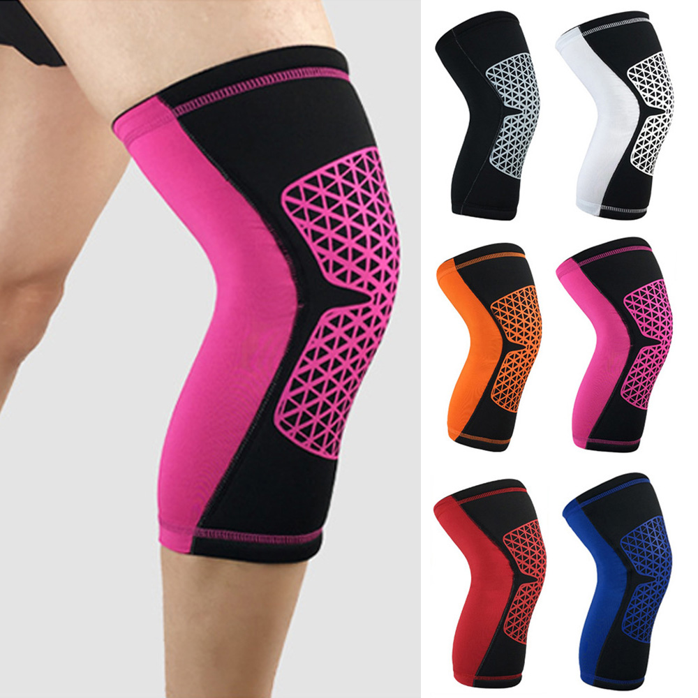 Protective Gear Sports Short Knee Protectors Non-slip Stylish Grid Pattern