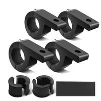 4-Pack(Mini)4PCS LED Licht Horizontal Clamp Montage Kit Fit auf 1 25 zoll Bull Bars Dach Racks Roll Käfige für ATV UTV und Lkw